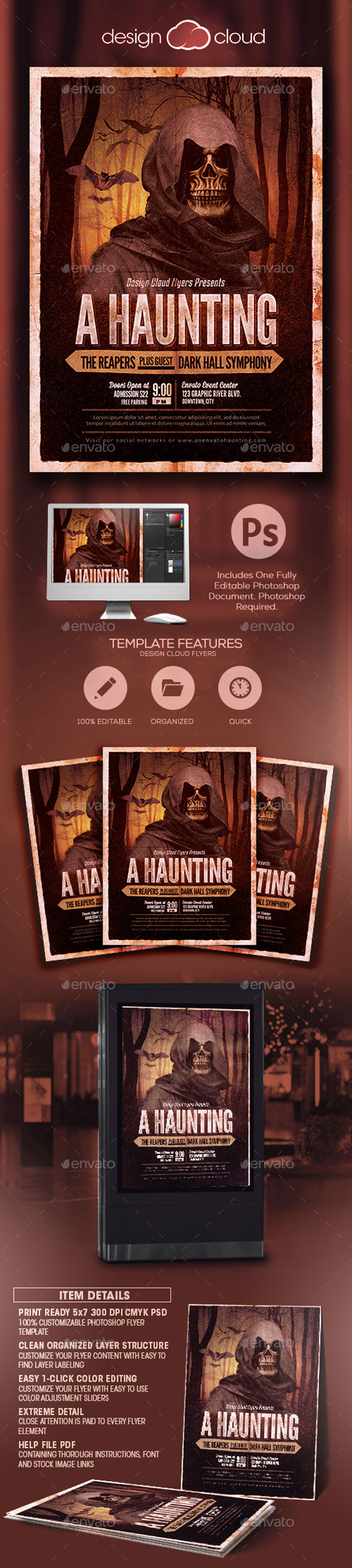 A Haunting Halloween Party Flyer Template