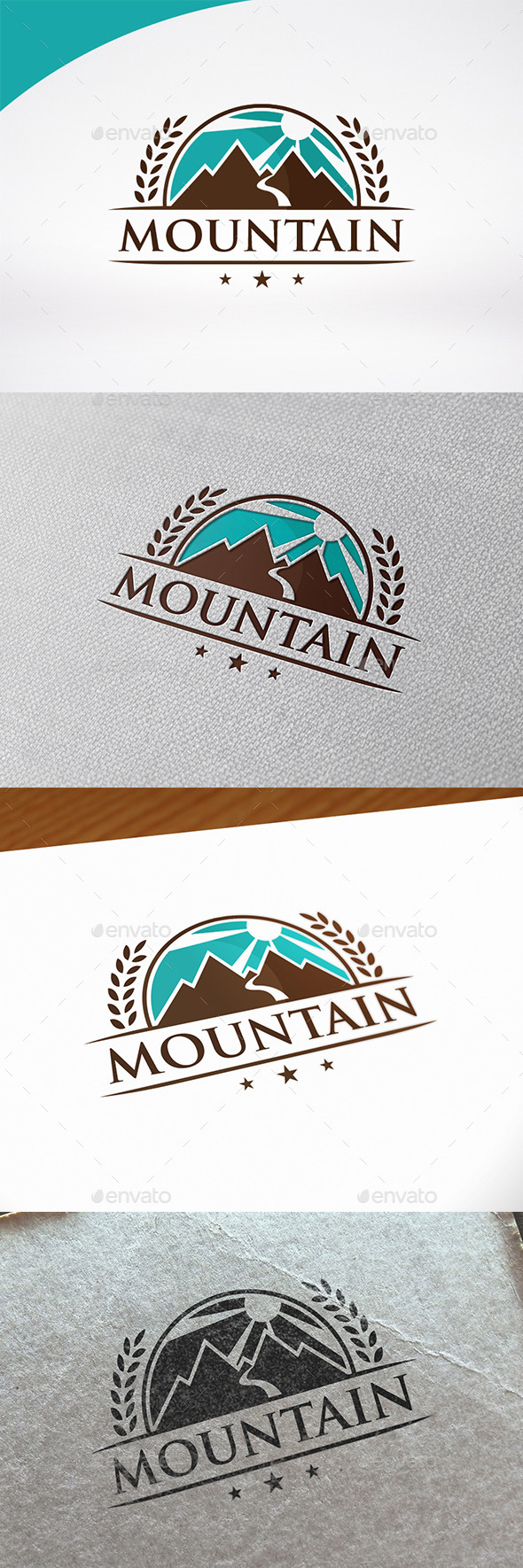Mountain Badge Logo Template