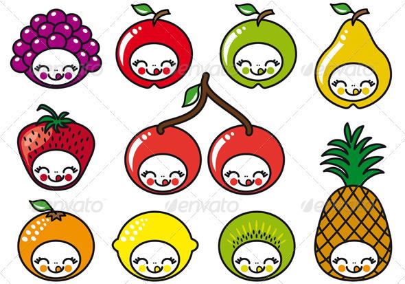 Happy Fruit Faces