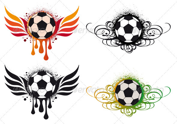Cool Soccer Balls On Fire Soccer balls with fire wing