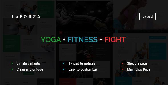 LaFORZA - Sport, Fitness & Yoga PSD