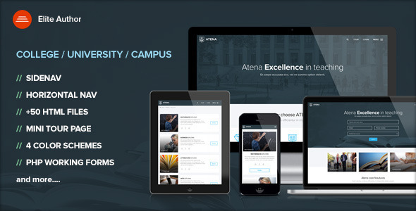 ATENA - College, University and Campus template