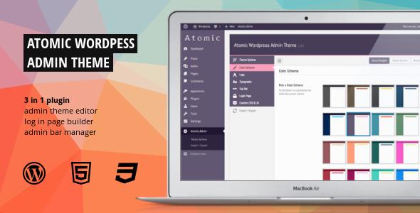 Atomic - WordPress Admin Theme & Login Page