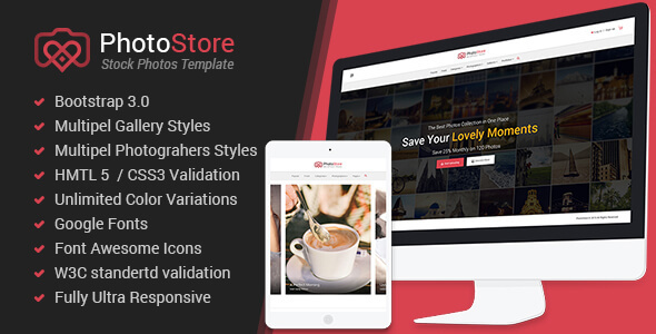 Photo Store Responsive eCommerce HTML5 Template