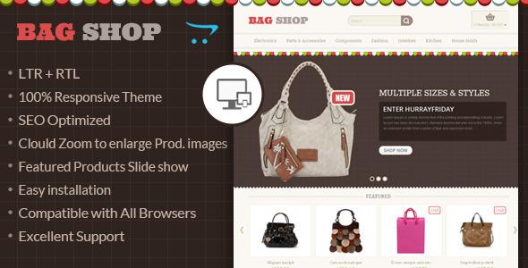 Bag Shop - OpenCart Responsive Theme