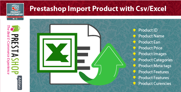 Prestashop Import Product with Csv/Excel Module