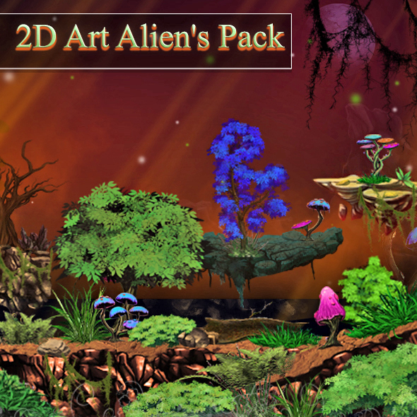 3DOcean 2D Alien s Art Pack 13269449