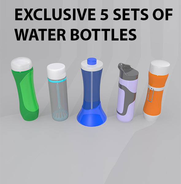 Water Bottles Package - 3DOcean Item for Sale