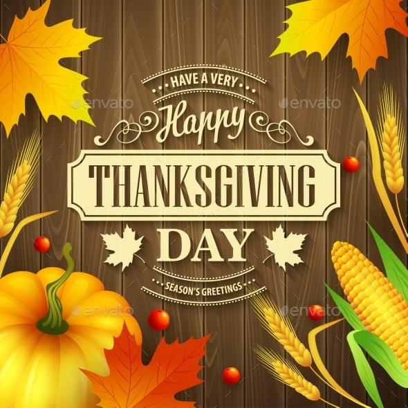 Hand Drawn Thanksgiving Greeting Card