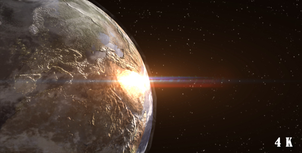Nuclear Explosion on Earth from Space by ronib1979 | VideoHive