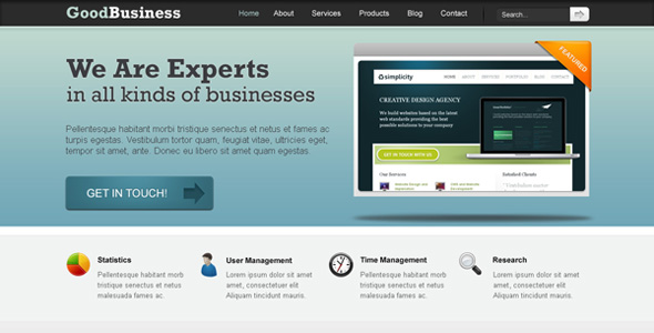 Good Business Clean PSD Template -