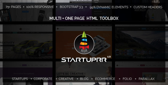 Startuprr - Unique Multi-Purpose HTML Template