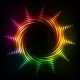 Abstract Rainbow Neon Spirals Vector Cosmic Sun