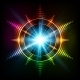 Abstract Rainbow Neon Spirals Vector Cosmic Star