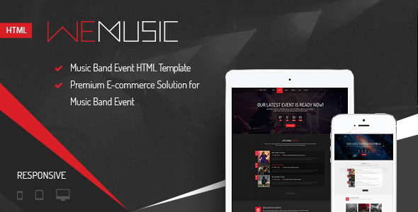 WeMusic - Music Band Event HTML Template