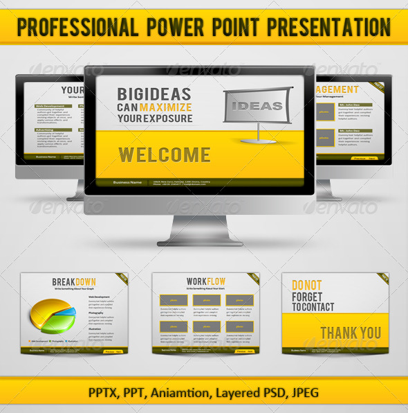 GraphicRiver Professional Power Point Presentation 159305