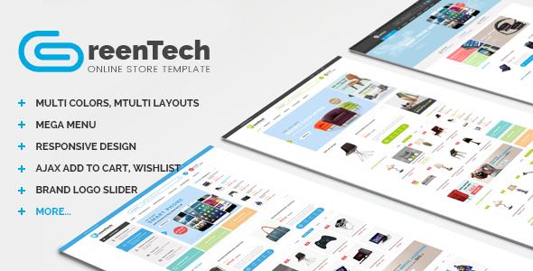 GreenTech - PSD Shopping Template