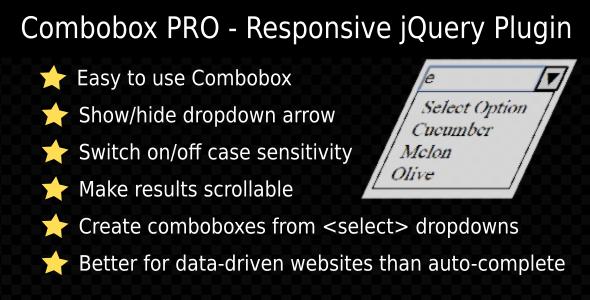 Combobox PRO - Responsive jQuery Plugin