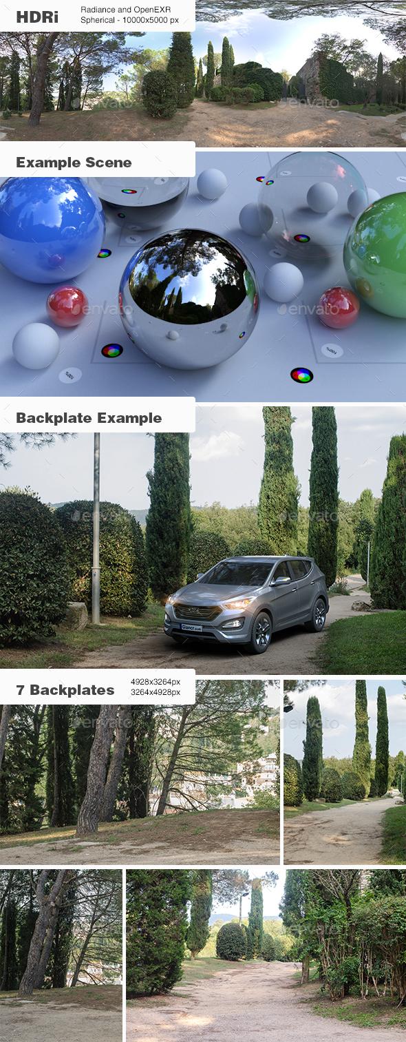 HDRi 003 - Exterior - Landscape + Backplates - 3DOcean Item for Sale