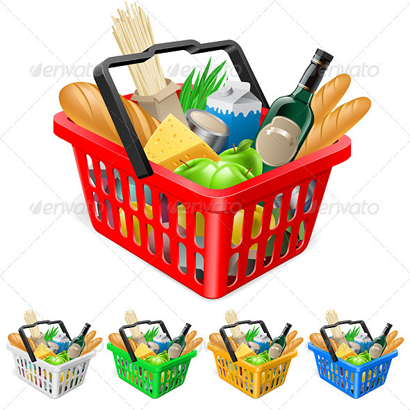 GraphicRiver Shopping basket with foods 1331203