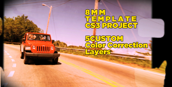 After Effects Project - VideoHive 8mm Template CS3 Project & 5 custom color ...