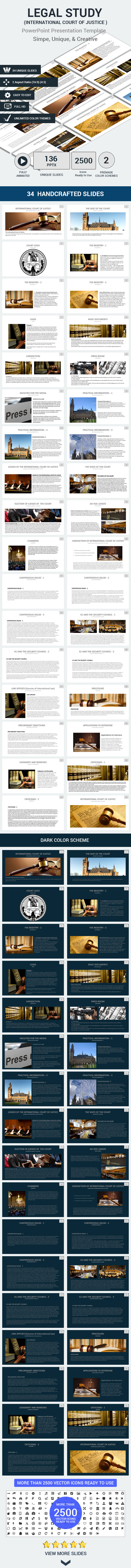 LEGAL STUDY  ( International Court of Justice ) (PowerPoint Templates)