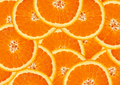 juicy orange slices background