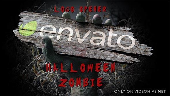 Download Halloween Zombie Hand Logo Opener nulled download