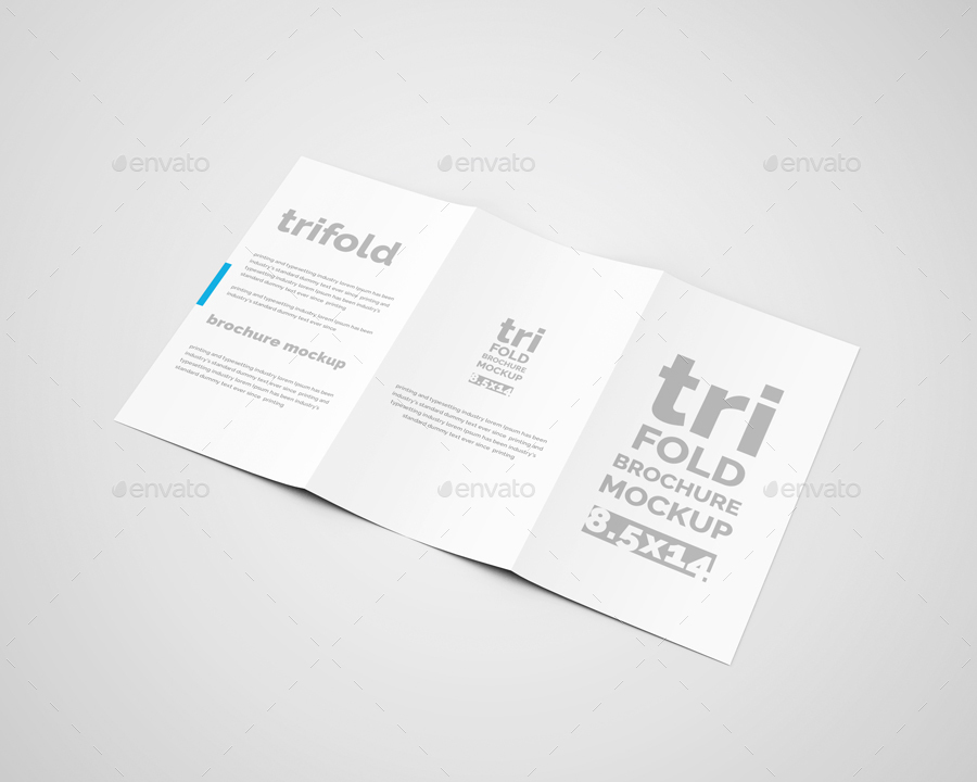 Tri fold brochure mock ups by toasin graphicriver for 8 5 x 14 brochure template