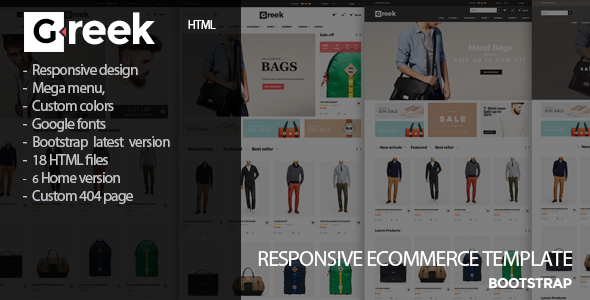 Greek - Fashion eCommerce  HTML5 Template
