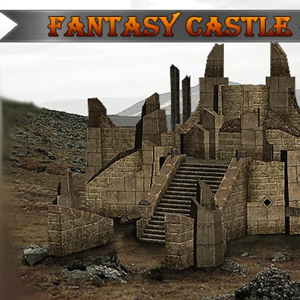 Fantasy Castle Ruins - 3DOcean Item for Sale