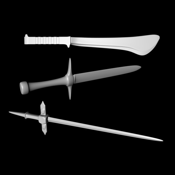 3d model swords - 3DOcean Item for Sale