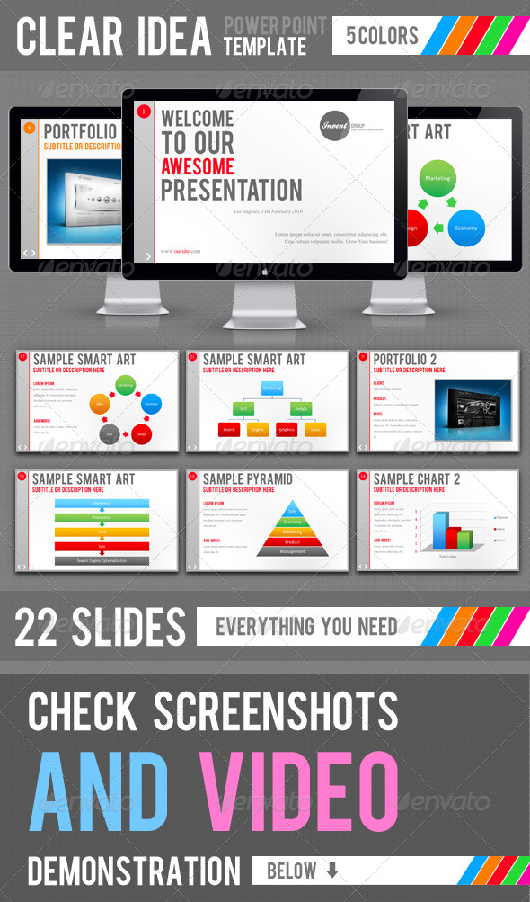 Clear Idea Template - Powerpoint Templates Presentation Templates