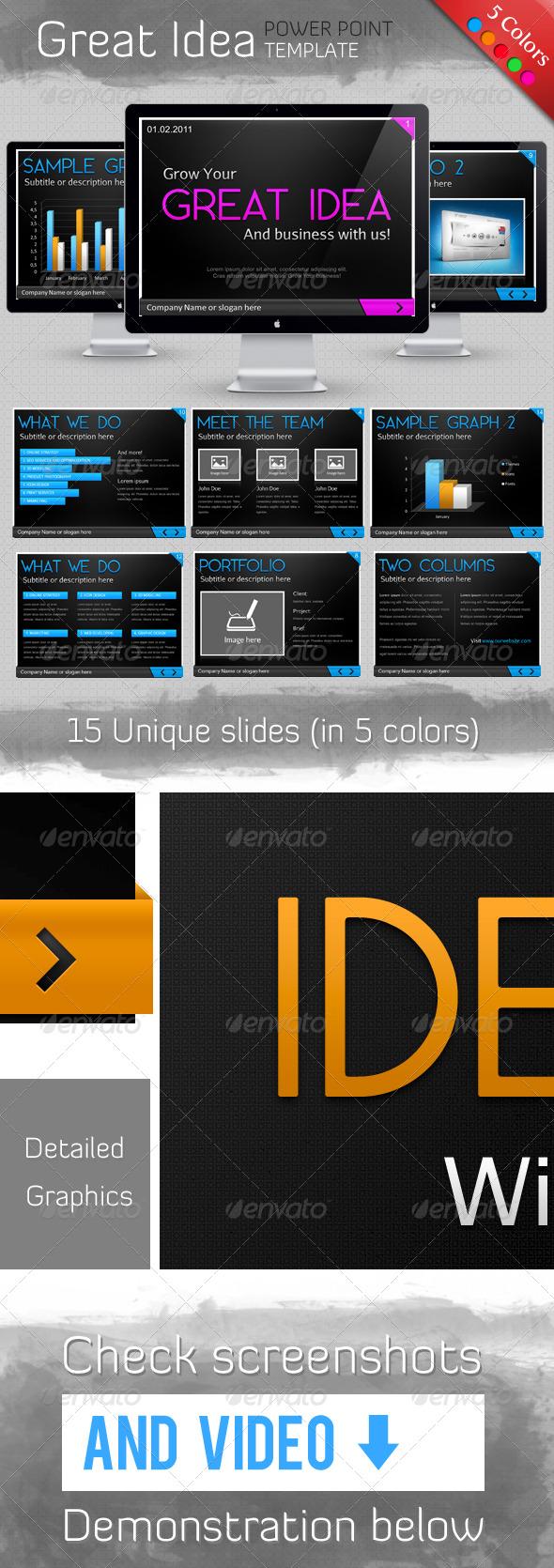 GraphicRiver Great Idea Template 158437