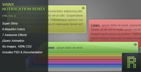 CodeCanyon Shiny Notification Boxes 150512