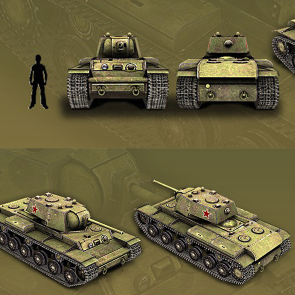Tank KV-1 - 3DOcean Item for Sale