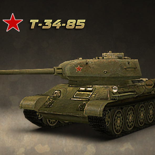 Tank T-34-85 - 3DOcean Item for Sale