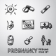 Set of Handdrawn Pregnancy Icons