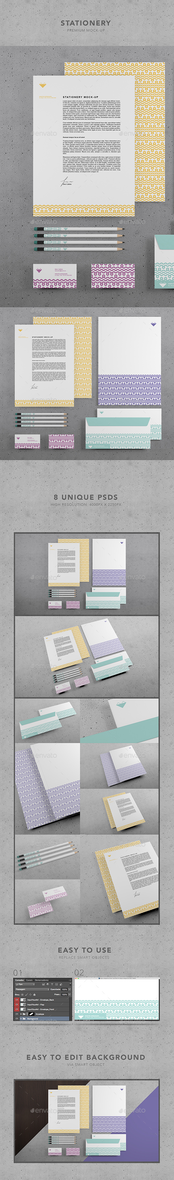Restaurant Identity Branding Mock-up II (Stationery)