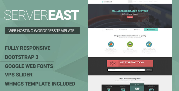 Download ServerEast - VPS Hosting WordPress Theme + WHMCS nulled download