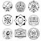School And Science Vintage Badges Set