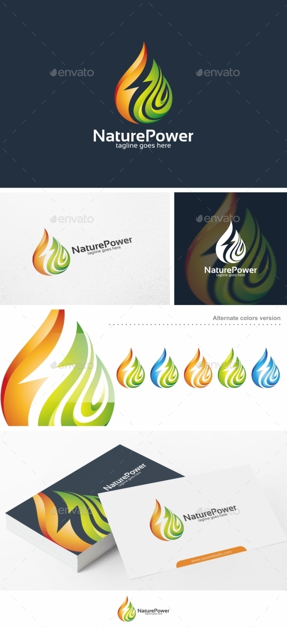 Nature Power - Logo Template