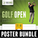 4 in 1 Golf Open Poster Templates Bundle