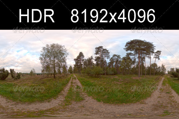 Field Path Cloudy 1 - 3DOcean Item for Sale