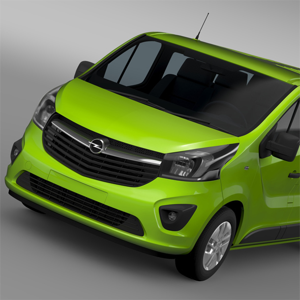 Opel Vivaro Window Van 2015 L2H1 - 3DOcean Item for Sale