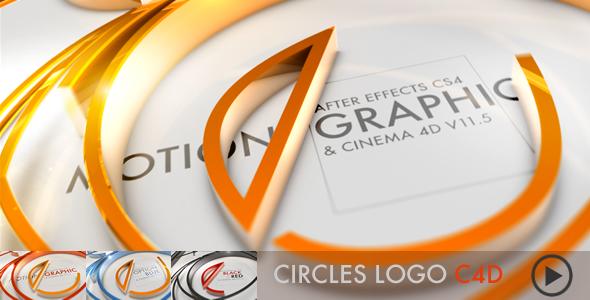 VideoHive Circles Logo C4D 1333187
