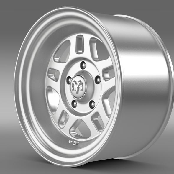 Mopar 2 Dodge Challenger rim - 3DOcean Item for Sale