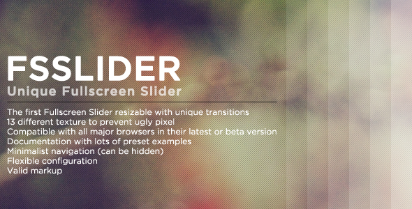 FSSlider - A Fullscreen Slider for your Background - CodeCanyon Item for Sale