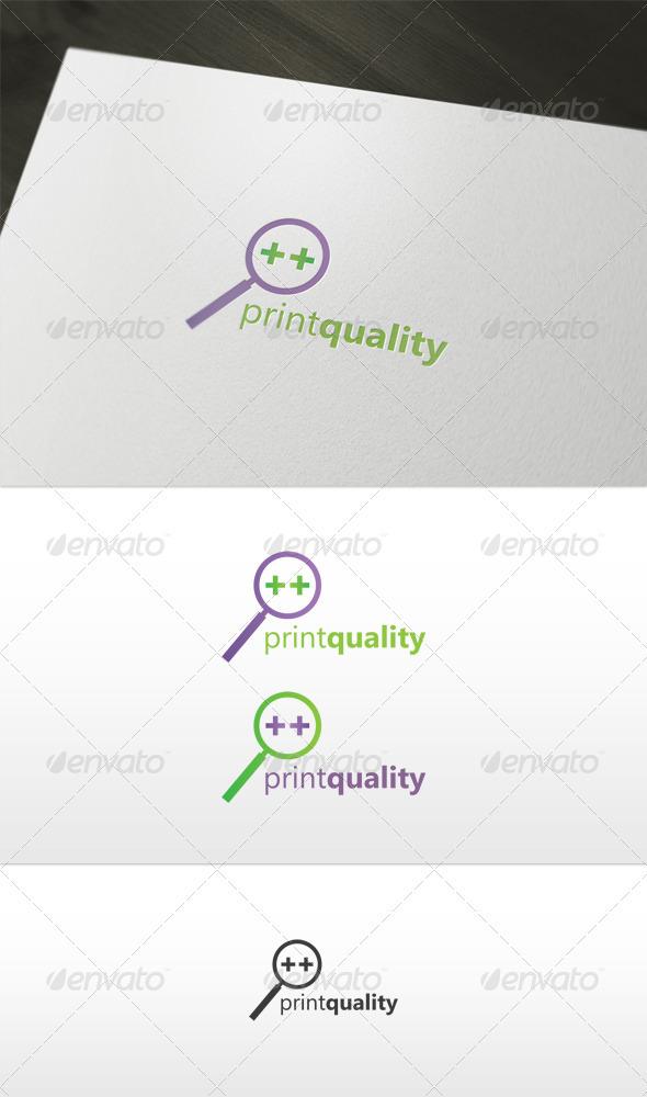 Print Quality Logo - Symbols Logo Templates