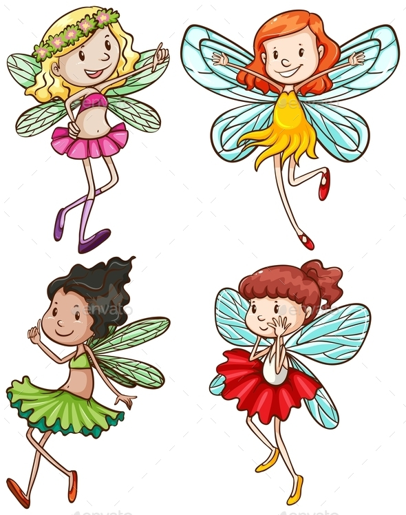 Simple Sketches of Fairies